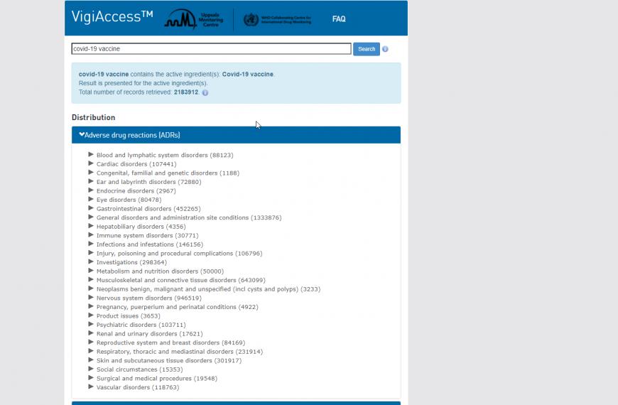 US VigiAccess Website
